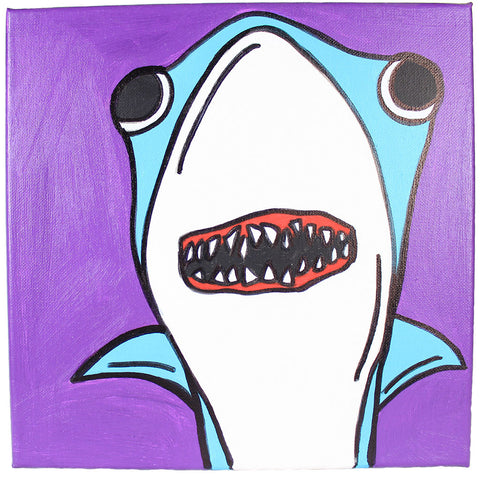"Back to the Future ""Hologram Shark"" Original Painting"