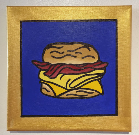 "Original art ""McDonald's Bacon, Egg, and Cheese Biscuit"" painting"