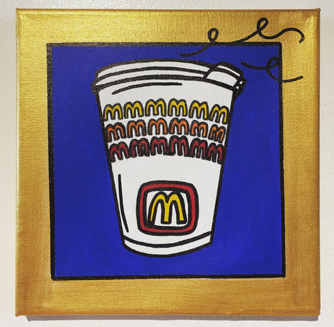 "Original art ""McDonald's Coffee"" painting"