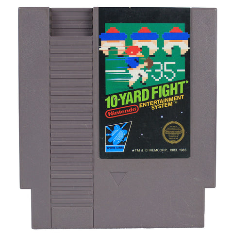 "NES ""10-Yard Fight"" Video Game Cartridge"