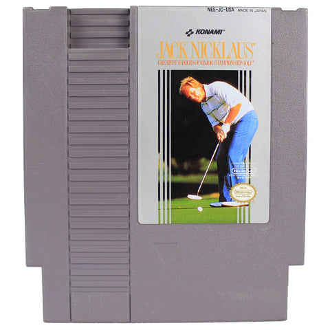 "NES ""Jack Nicklaus"" Video Game Cartridge"