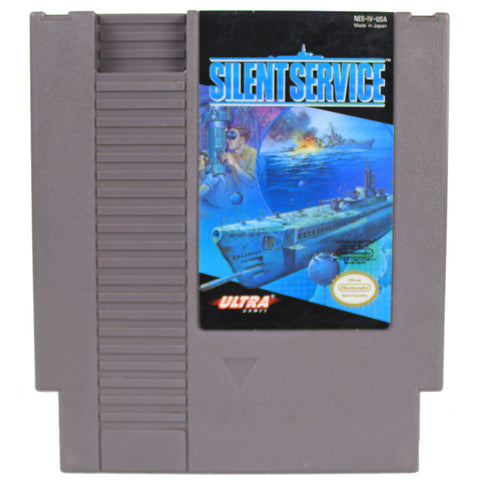 "NES ""Silent Service"" Video Game Cartridge"