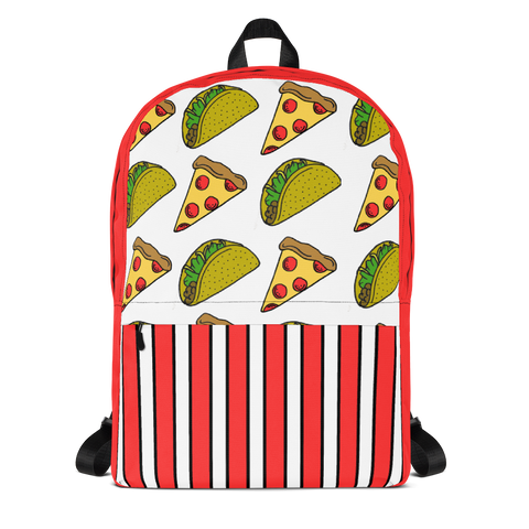 Pizza Taco All-Over Print Backpack