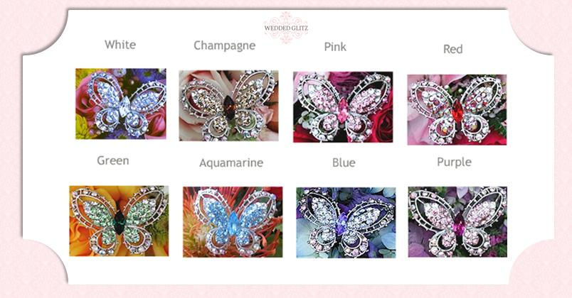 Crystal Butterfly Colors