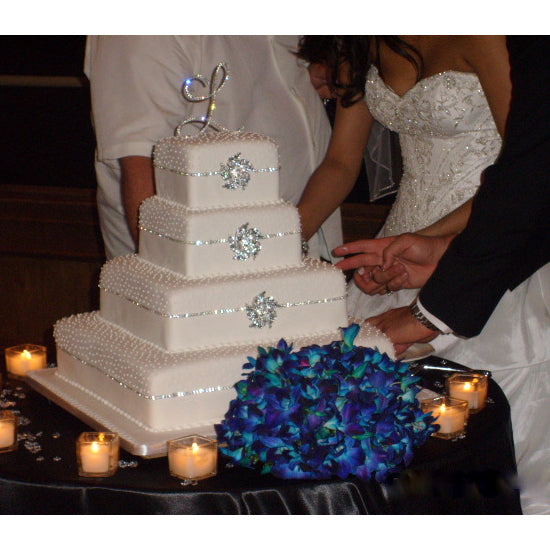 cute monogram wedding cake toppers