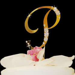 French Flower Crystal Cake Topper