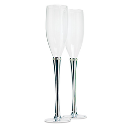 Champagne Flutes: Ring of Crystals
