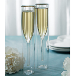 Champagne Flutes: Wall Stems (Contemporary)