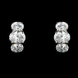 Earrings - Pure Perfection Silver CZ Stud Earrings