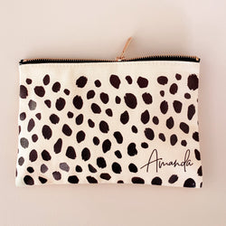 Cheetah Print Cosmetic Bag