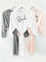 Bridal Party Satin Lace Robes
