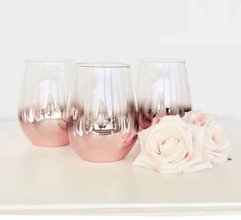 Rose Gold Stemless Glass