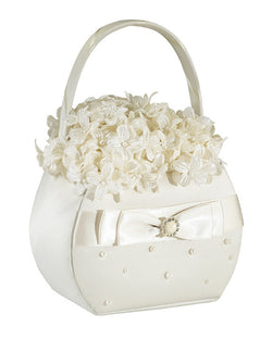 Scattered Pearl Basket-Ivory