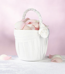 Cream Rose Flower Basket