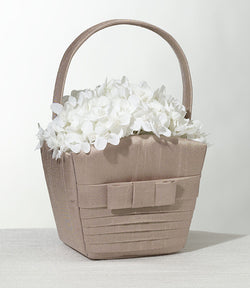Pleated Silk Basket