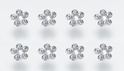 Flower Rhinestone Bouquet Picks (Set of 8)