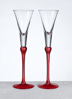 Tall Colored Toasting Flutes