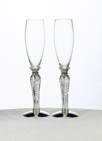 Crown Champagne Flutes Clear