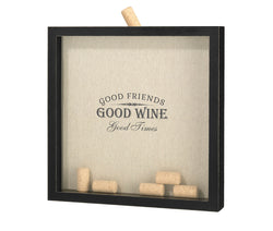 """Good Friends, Good Times"" Cork Frame"