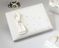 Scattered Pearl Guestbook - Ivory
