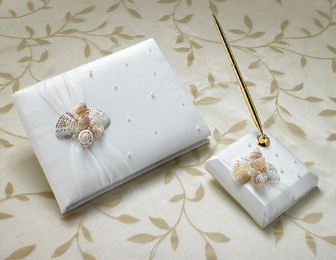 Seaside Guest Book w/Pen Set