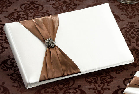 Jeweled Brown Guest Book