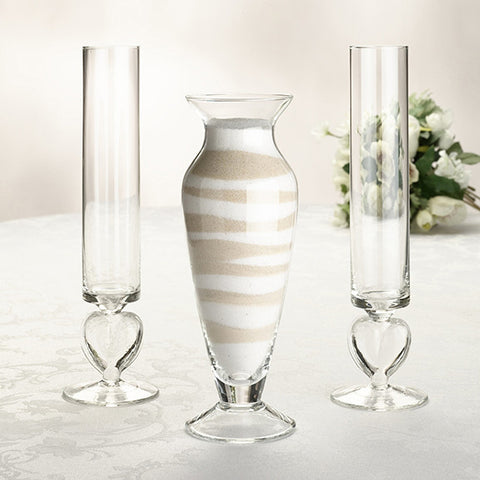 Glass Unity Sand Vase Set