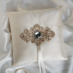 Ivory Material Girl Ring Bearer Pillow
