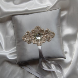 Material Girl Silver Ring Bearer Pillow