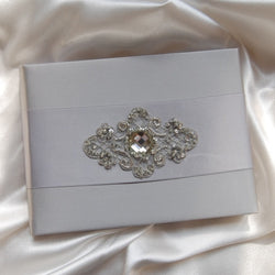 Guest Book - Material Girl (Silver Satin)