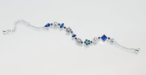 Something Blue Silver Anklet