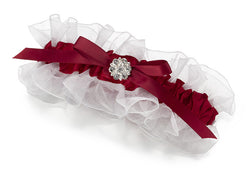 Satin Garter with Rhinestone