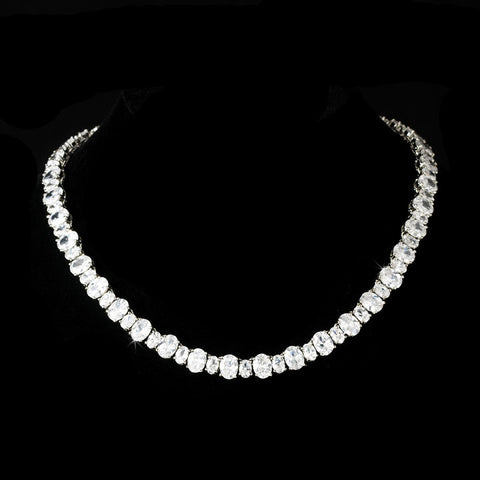 Necklace - Pure Perfection Oval CZ