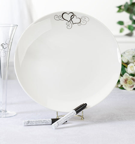 Round Platter with Pens