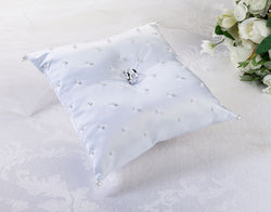 Pearl Ring Pillow - White