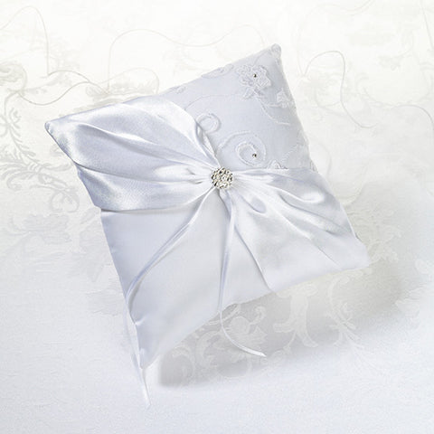 White Lace Ring Bearer Pillow