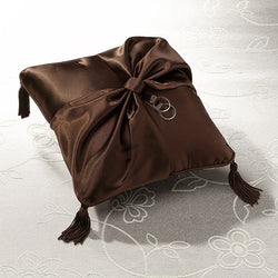Brown Ring Bearer Pillow