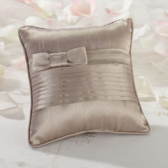 Pleated Silk Ring Bearer Pillow