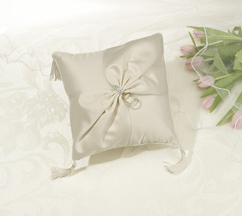 Sash Rhinestone Ring Bearer Pillow