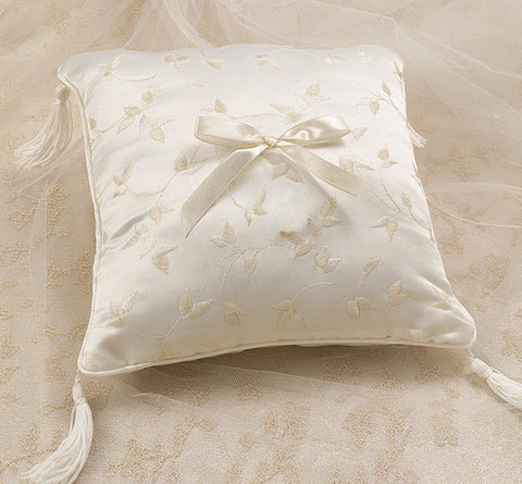 Elegant Satin Ring Bearer Pillow