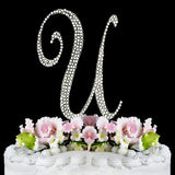 Crystallized Monogram Cake Topper