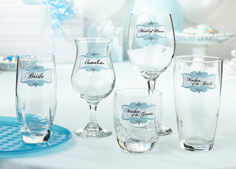 Wedding Shower Glass Clings (Set of 20)
