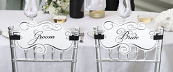 Bride & Groom Chair Signs