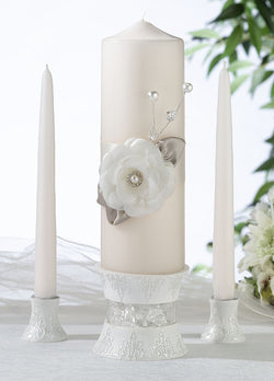 Taupe Rose Candle Set