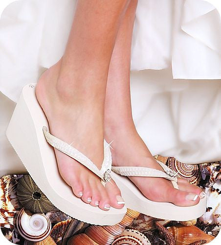 Breeze High Wedge Bridal Flip Flops