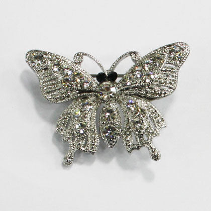 Butterfly Jeweled Bridal Brooch