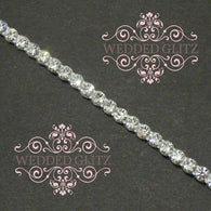 1 Row Crystal Banding (Crystal/Silver - Sold by the Foot)