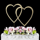 Crystallized Double Heart Cake Topper