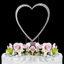 Crystallized Single Heart Cake Topper