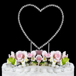 Renaissance Single Heart Crystal Cake Topper